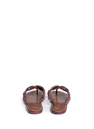 Back View - Click To Enlarge - Sam Edelman - 'Karly' beaded crisscross thong sandals