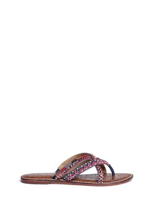 Main View - Click To Enlarge - Sam Edelman - 'Karly' beaded crisscross thong sandals