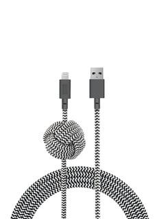 NATIVE UNION NIGHT绳结造型充电线缆(3米)-黑白色