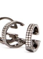 'Berbère' diamond black gold 3-hoop ear cuff