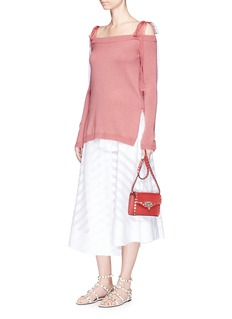 ValentinoOrganza ribbon off-shoulder cashmere sweater