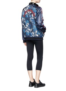 The Upside Cherry blossom print bomber jacket