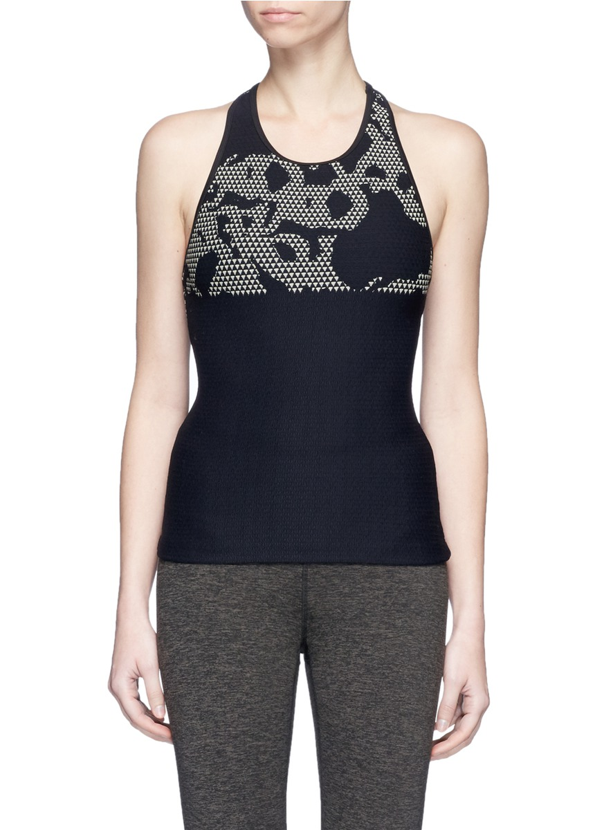 Submerge camouflage jacquard sports tank top by KORAL