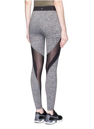 Back View - Click To Enlarge - KORAL - 'Frame' Powermesh panel performance leggings
