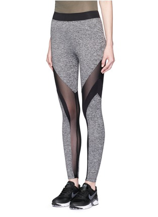 Front View - Click To Enlarge - KORAL - 'Frame' Powermesh panel performance leggings
