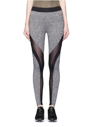 Main View - Click To Enlarge - KORAL - 'Frame' Powermesh panel performance leggings
