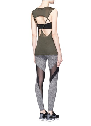 Figure View - Click To Enlarge - KORAL - 'Frame' Powermesh panel performance leggings