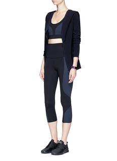 Live The Process 'Geometric' foldable waist cropped performance leggings