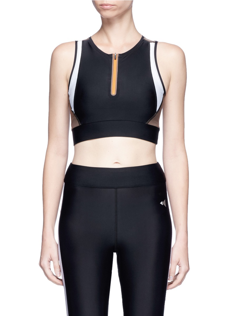 Althea Curve Mesh colourblock sports bra by Laain