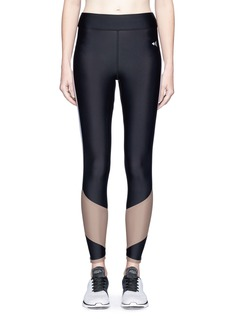Laain 'Lydia Curve Mesh' colourblock performance leggings