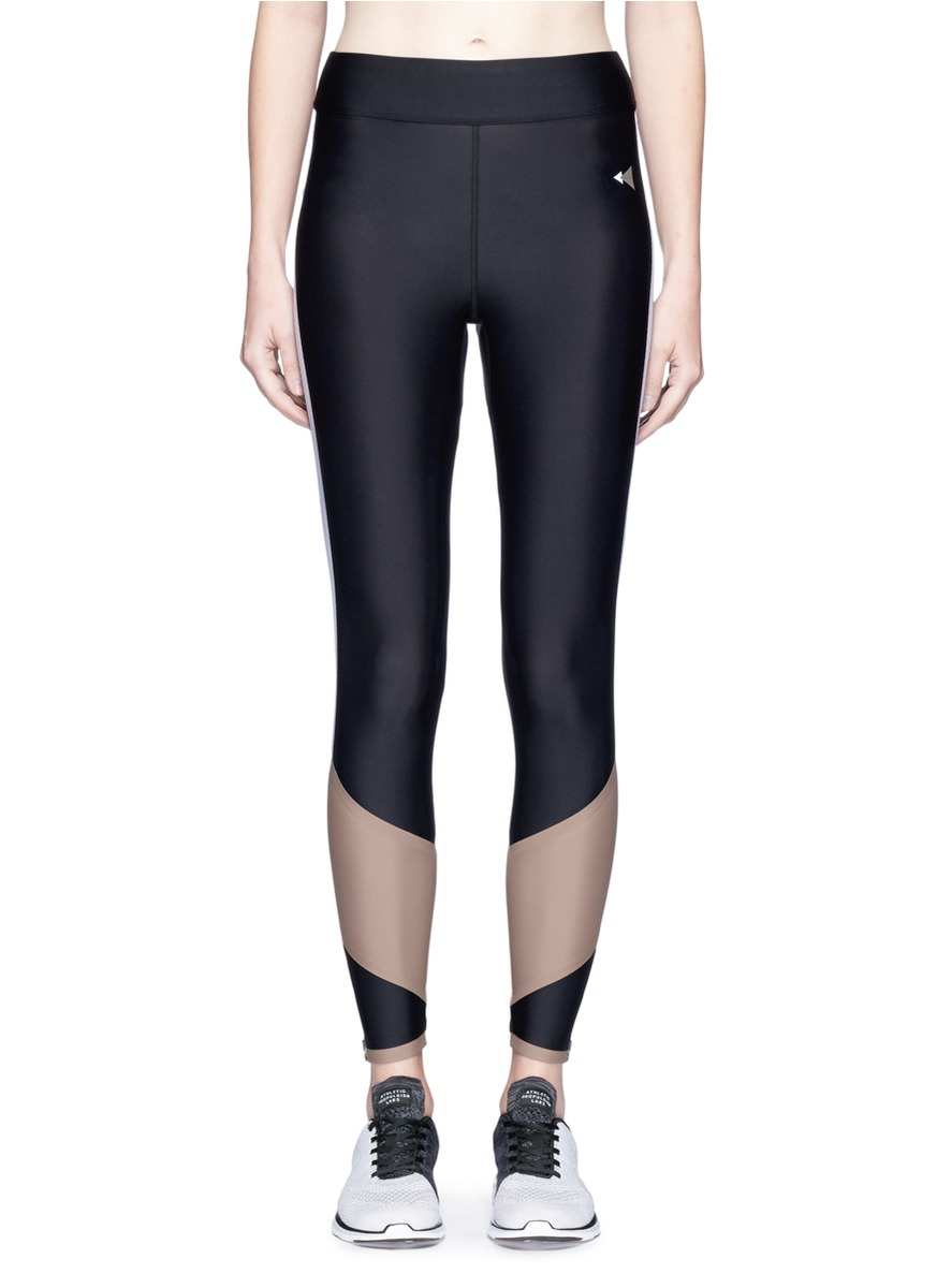 Lydia Curve Mesh colourblock performance leggings by Laain