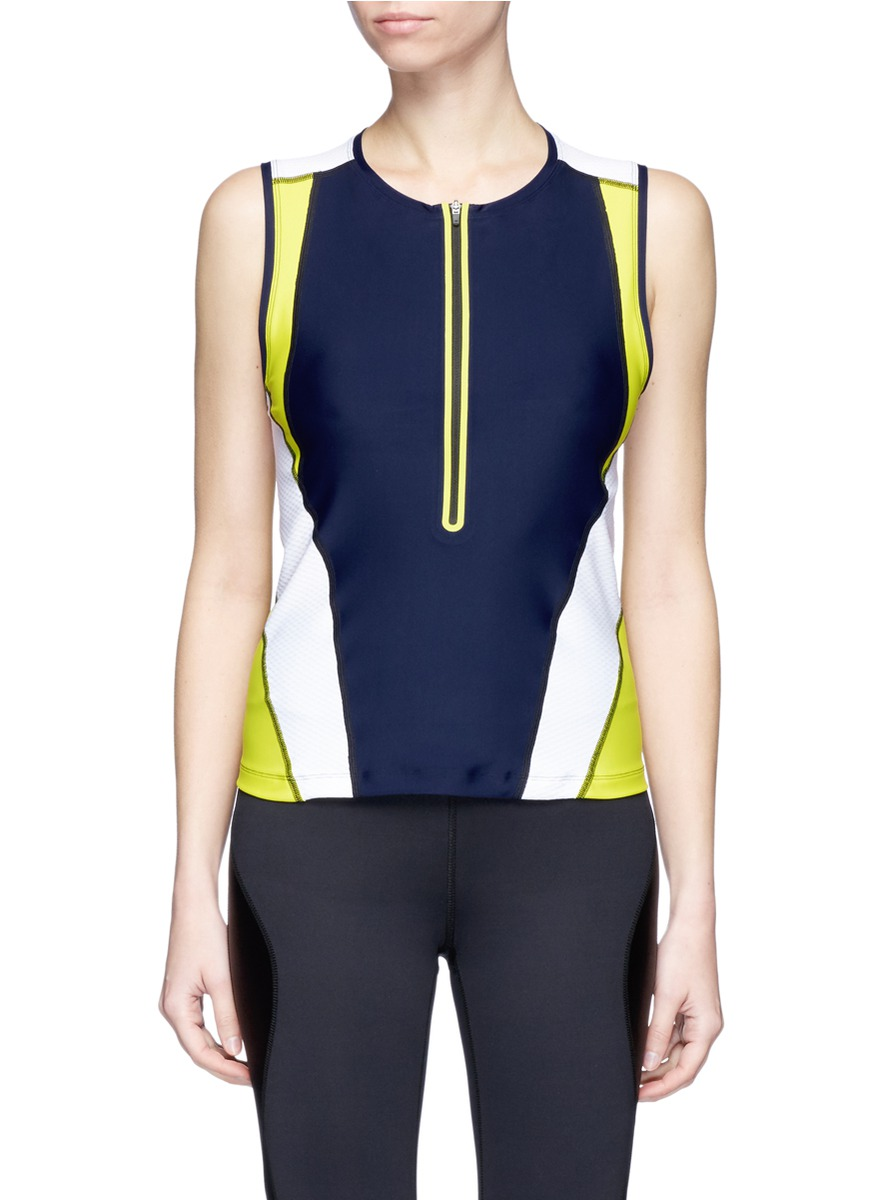 Martine mesh panel colourblock performance vest by Laain