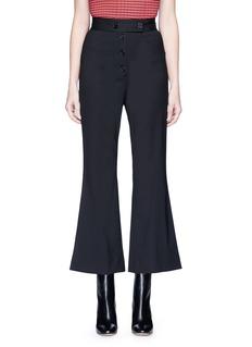 Proenza SchoulerVirgin wool cropped flared pants
