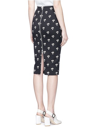 Back View - Click To Enlarge - Victoria Beckham - Daisy jacquard pencil skirt