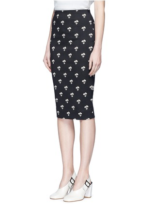 Front View - Click To Enlarge - Victoria Beckham - Daisy jacquard pencil skirt