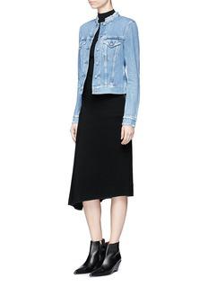 Acne Studios'Top' frayed collar denim jacket