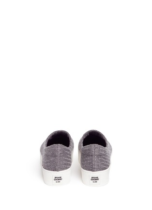 Back View - Click To Enlarge - Opening Ceremony - 'Cici' ribbed jersey flatform skate slip-ons
