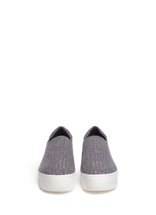 Front View - Click To Enlarge - Opening Ceremony - 'Cici' ribbed jersey flatform skate slip-ons