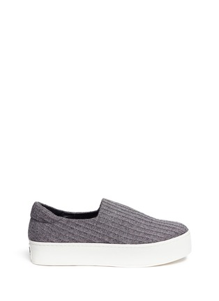 Main View - Click To Enlarge - Opening Ceremony - 'Cici' ribbed jersey flatform skate slip-ons