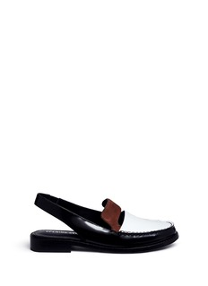 Opening Ceremony 'Bettsy' suede trim leather slingback loafers