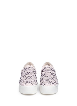 Front View - Click To Enlarge - Opening Ceremony - 'Cici' smocked flatform skate slip-ons