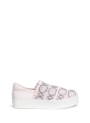 Main View - Click To Enlarge - Opening Ceremony - 'Cici' smocked flatform skate slip-ons
