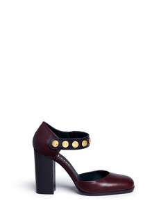 Mulberry Marylebone' stud strap colourblock leather d'Orsay pumps