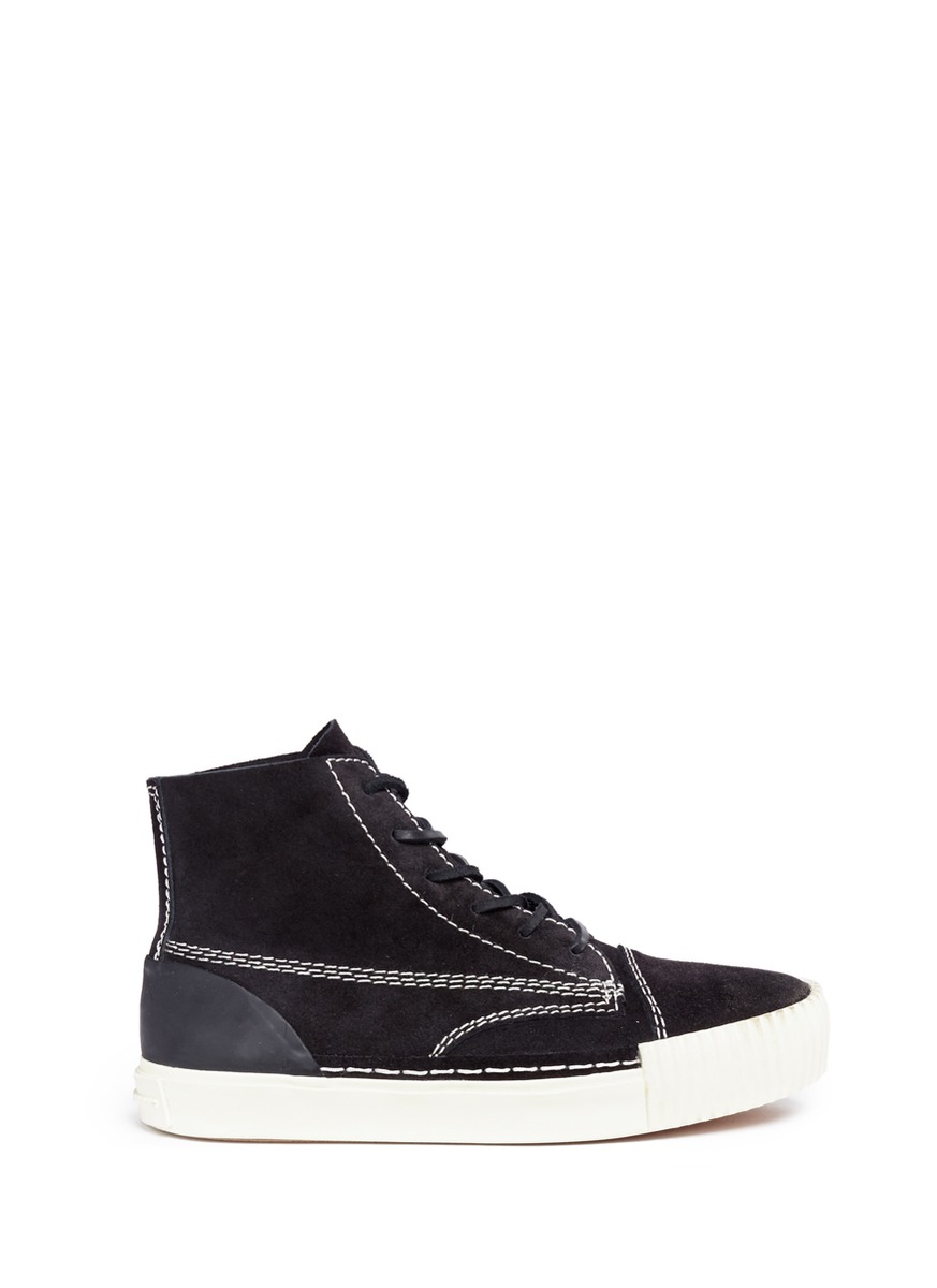 Perry suede high top sneakers by Alexander Wang