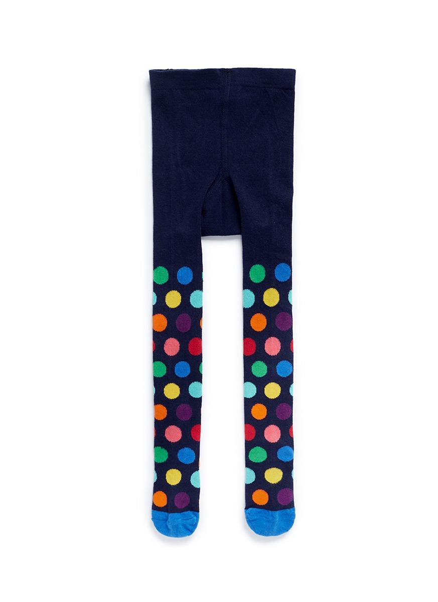 Polka dot kids tights by Happy Socks
