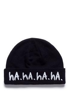 Haculla'ROFL' slogan embroidered beanie