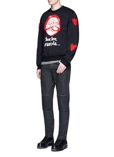 Haculla'True Luv' patch sweatshirt