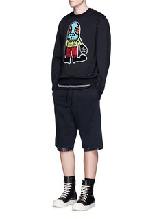 Haculla'Bite Me' French terry patch sweatshirt