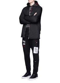 Haculla'One of a Kind Verbiage' print hoodie