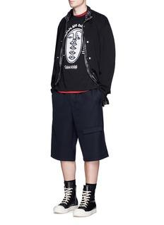 Haculla'Shhhhh' velvet patch T-shirt
