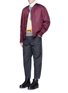 3.1 Phillip LimCollarless padded blouson jacket