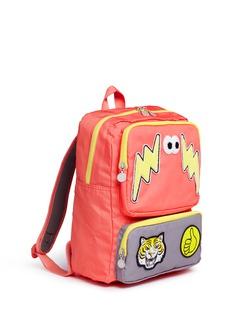 Stella Mccartney Kids'Rocket' mixed badge water repellent kids backpack