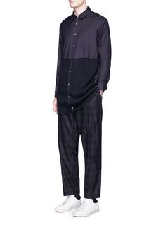 FFIXXED STUDIOSWaffle knit front hem shirt