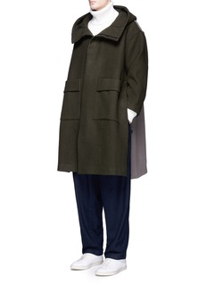 FFIXXED STUDIOS Colourblock oversized wool blend coat
