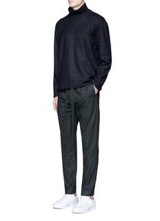 FFIXXED STUDIOS'Communal' sash waist felted wool blend pants
