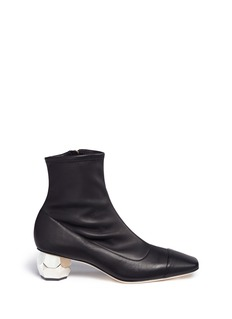 Frances Valentine 'Marnie' geometric block heel leather boots