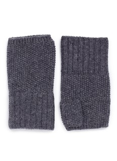 Ish Cashmere knit fingerless gloves