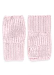 IshCashmere knit fingerless gloves