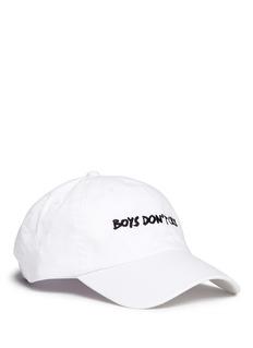 NasaseasonsBoys Don't Cry' embroidered baseball cap