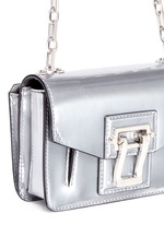 'Hava' metallic leather crossbody bag