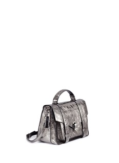 Proenza Schouler 'PS1' medium metallic crinkled leather satchel