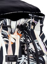 'PS1' floral print nylon backpack