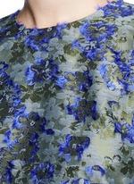 Fil coupé fringe floral jacquard top