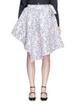 Floral jacquard chenille asymmetric duvet skirt