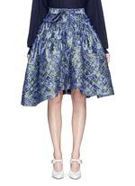 Fil coupé fringe floral jacquard quilted skirt