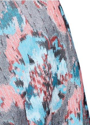 Detail View - Click To Enlarge - Jourden - Hologram jacquard bias cut midi skirt